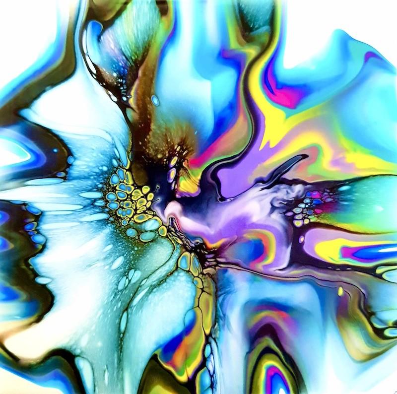 JodeArt Orchid Dreamer fluid abstract art print